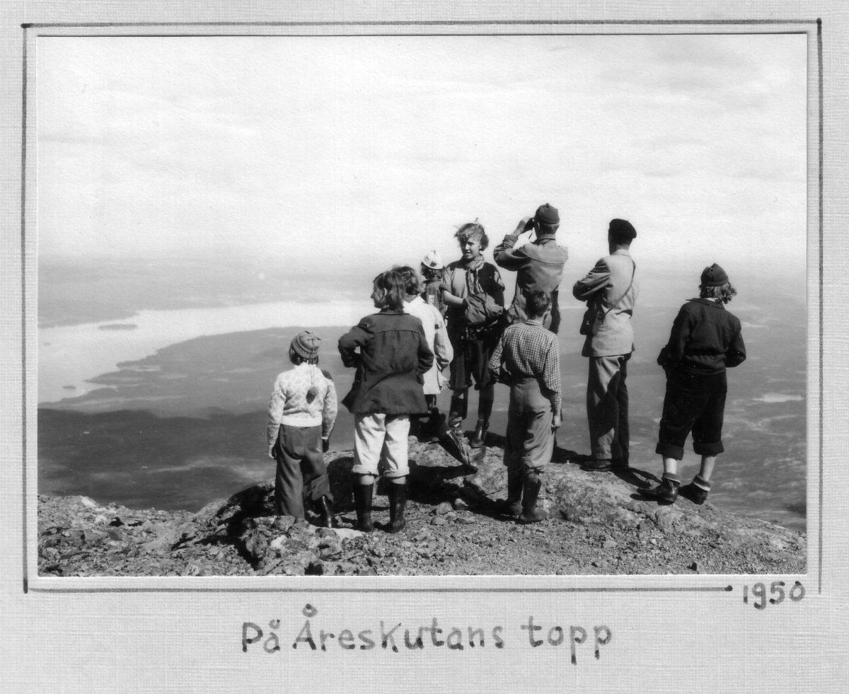 S.13 På Åreskutans topp 1950