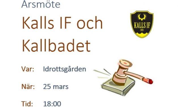 Årsmöte Kalls IF och Kallbadet