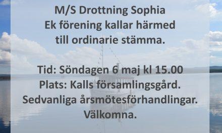 Årsmöte Drottning Sophia 6 maj