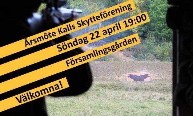 Årsmöte Kalls Skytteförening 22 april