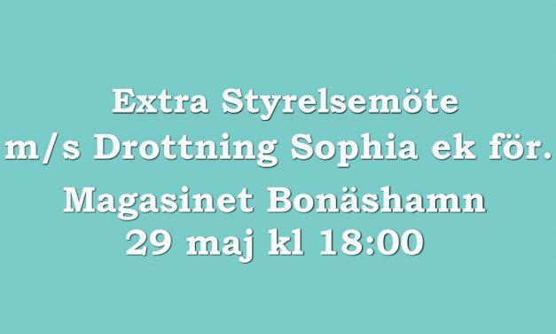 Extra styrelsemöte m/s Drottning Sophia