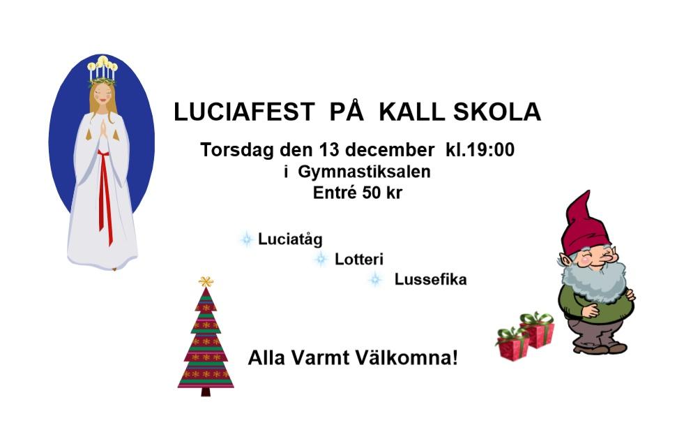 Luciafest på Kalls skola