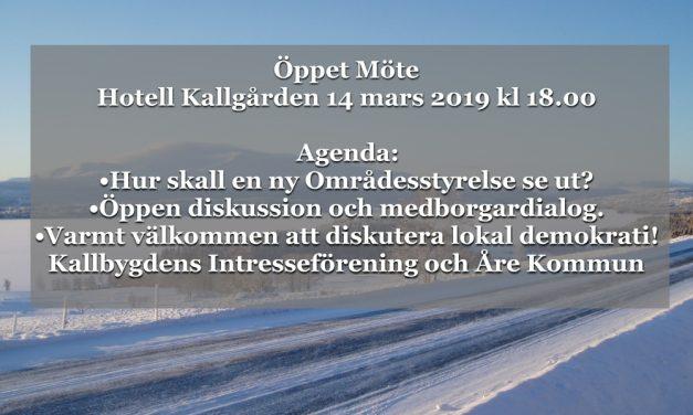 Öppet möte 14 mars