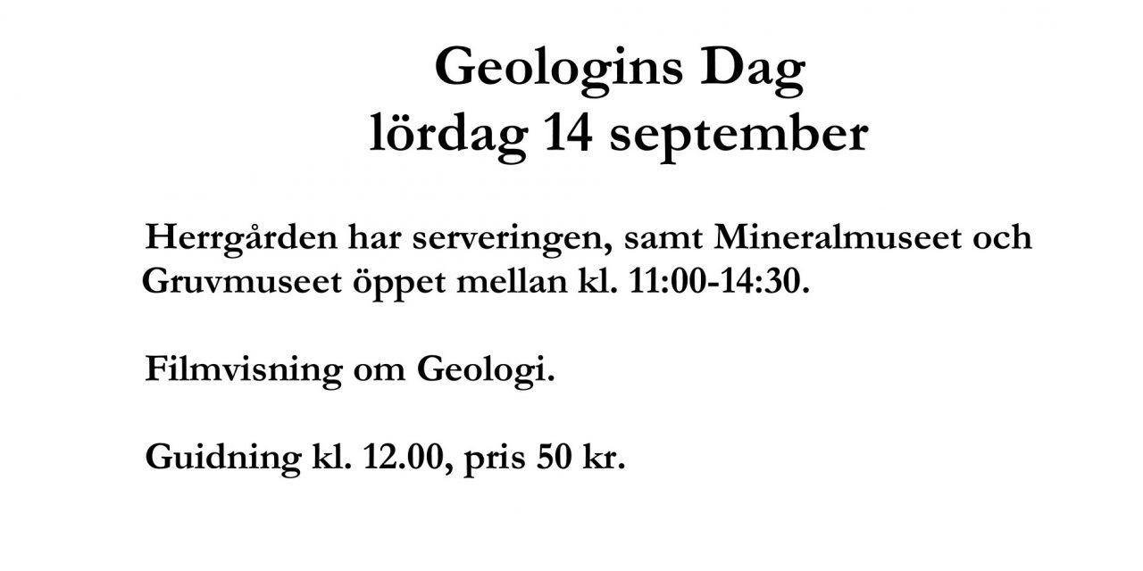 Geologins dag Huså 14-15 sept