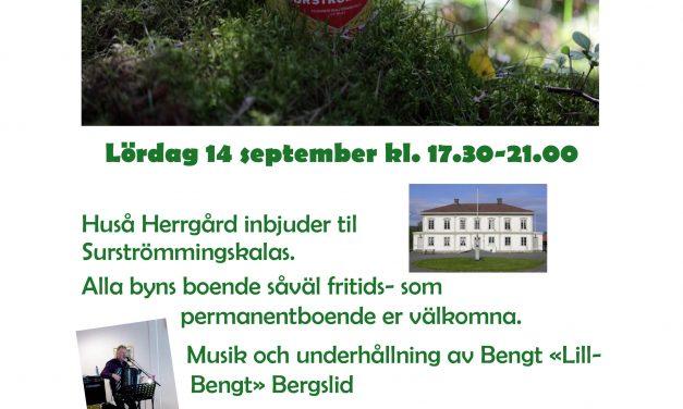 Surströmmingskalas Huså 14 sept