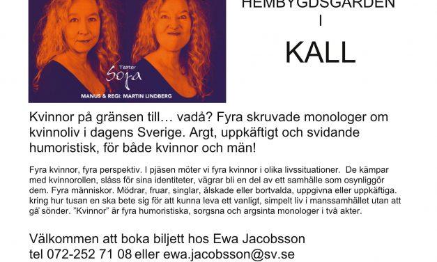 Teater och Soppa. Hembygdsgården 5 nov.